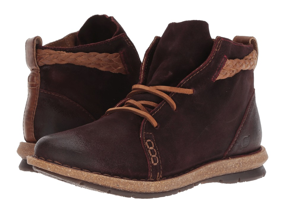 Born Temple (Burgundy Distressed) Women's Shoes