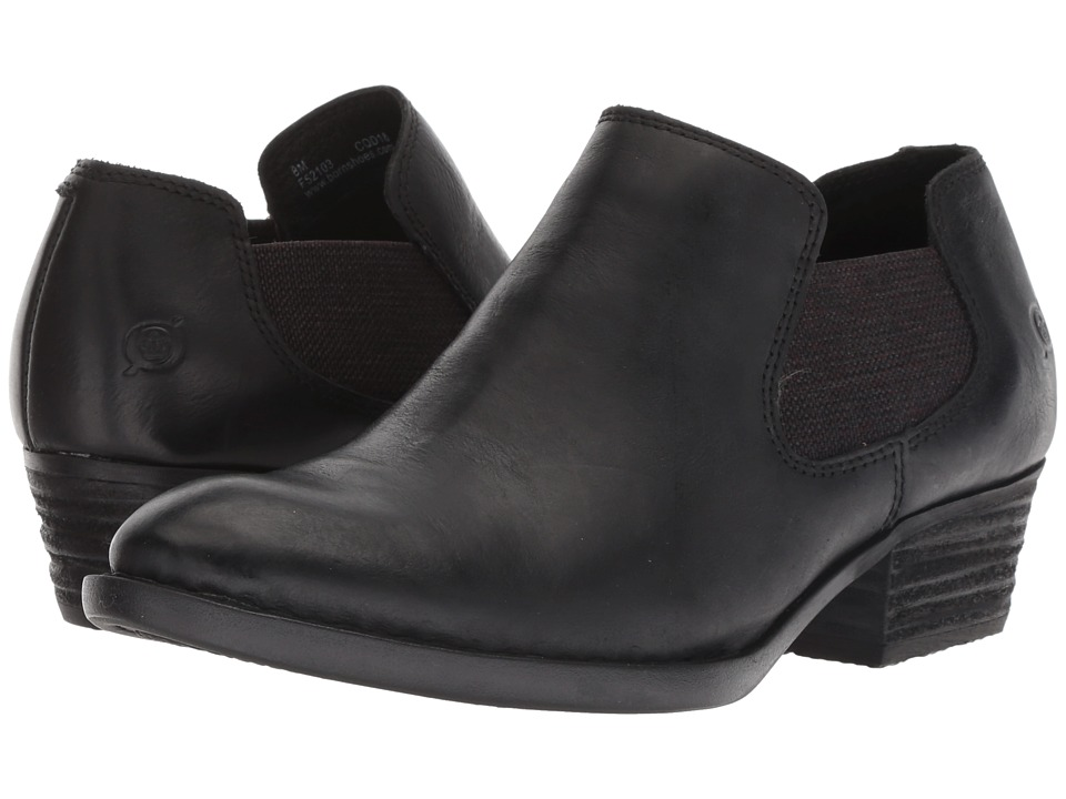 Born Dallia (Black Full Grain) Women's Pull-on Boots