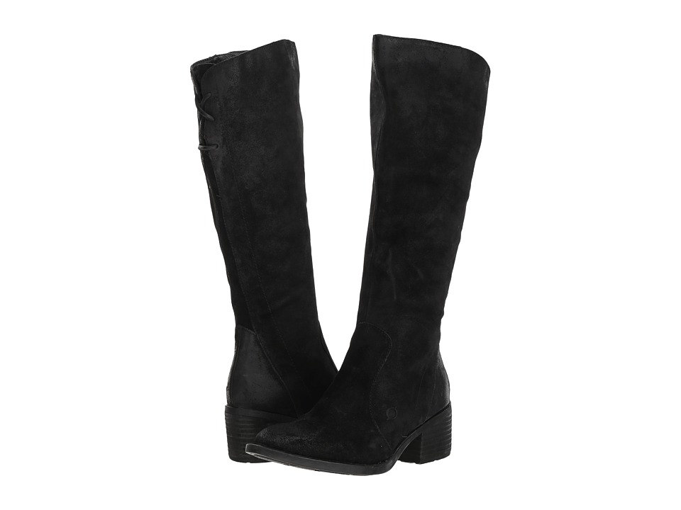 Born Felicia (Black Distressed) Women's Pull-on Boots