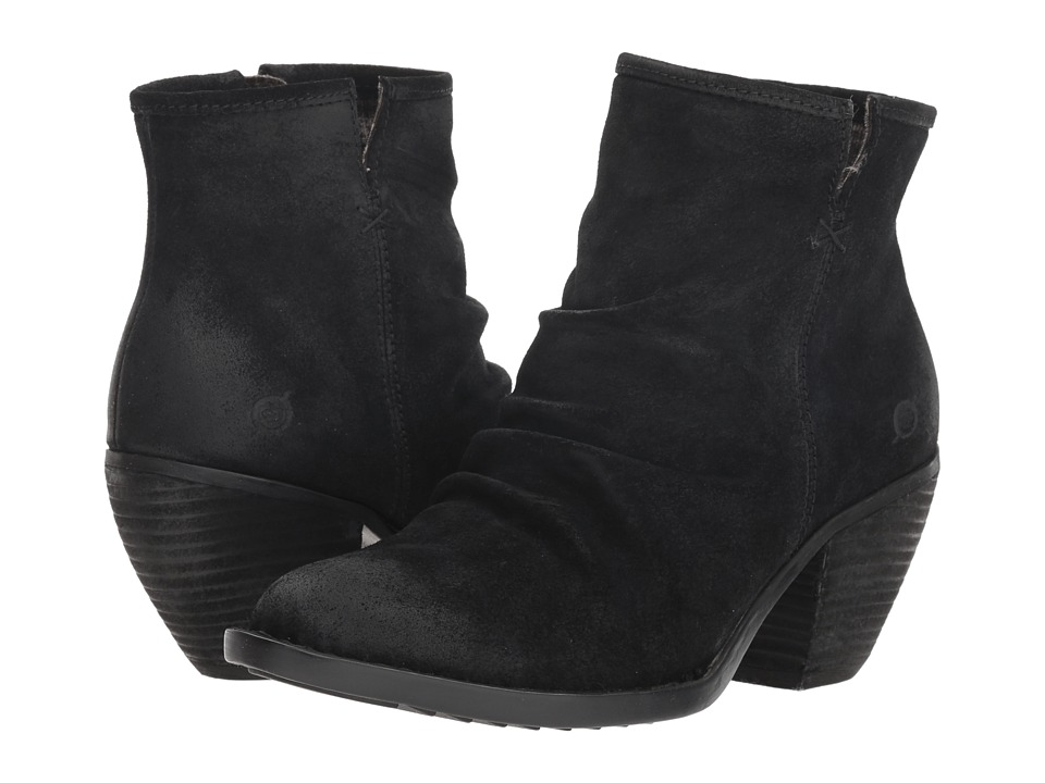Born Aire (Black Suede) Women's Pull-on Boots