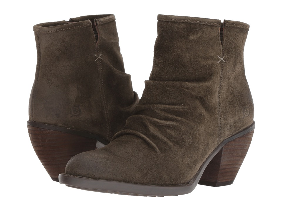 Born Aire (Green Suede) Women's Pull-on Boots