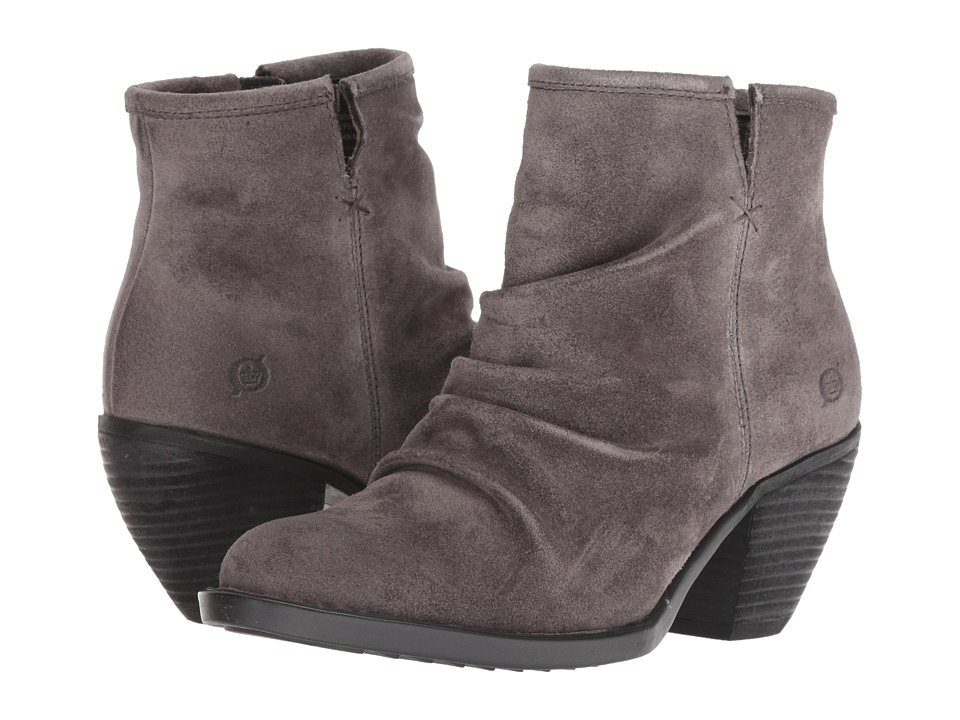 Born Aire (Dark Grey Suede) Women's Pull-on Boots