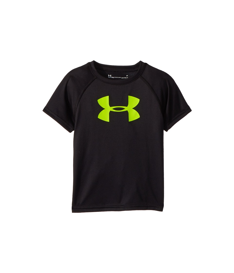 Under Armour Kids - Big Logo S/S Tee (Toddler) (Black/Fuel Green) Boys T Shirt