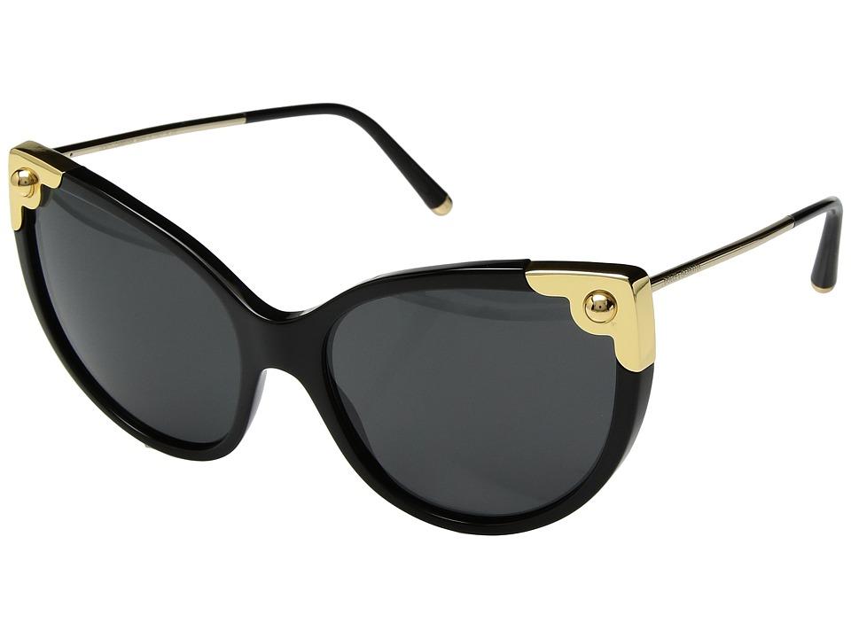 Dolce & Gabbana 0DG4337 (Black/Gold/Grey) Fashion Sunglasses