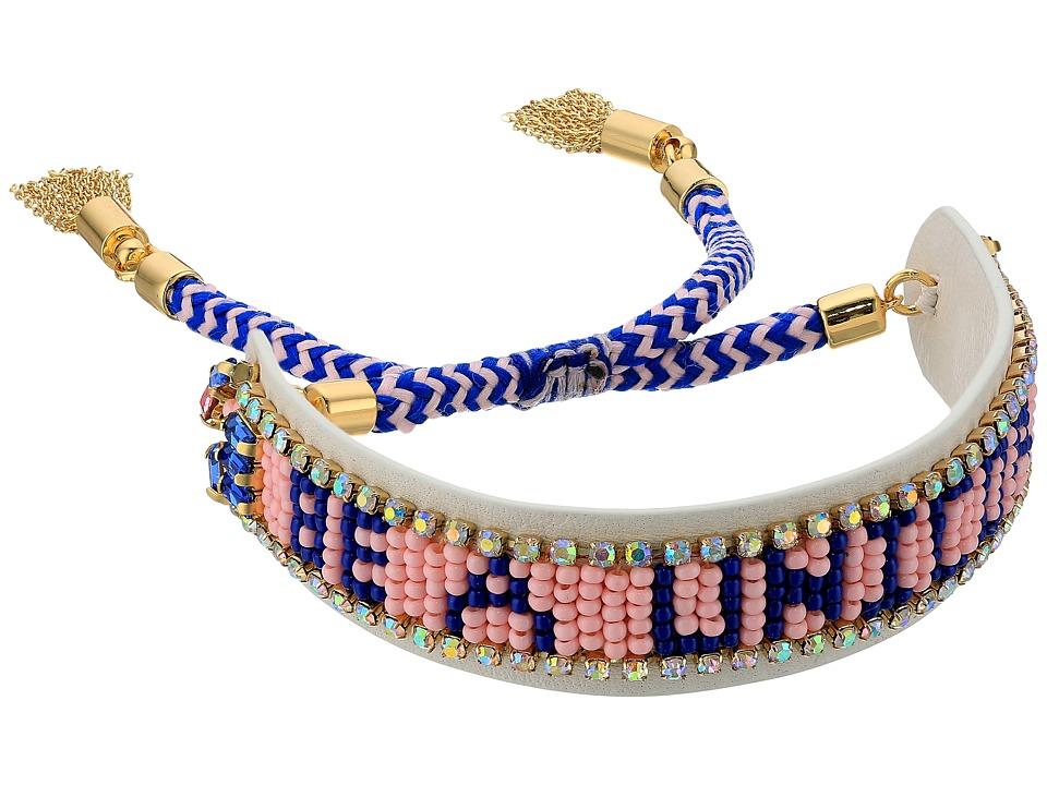 Rebecca Minkoff - Be A Unicorn Seed Bead Friendship Bracelet (White/Blue) Bracelet