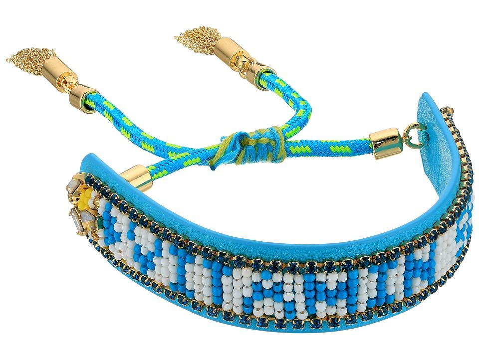 Rebecca Minkoff - Vitamin Sea Seed Bead Friendship Bracelet (Turquoise/Mint) Bracelet