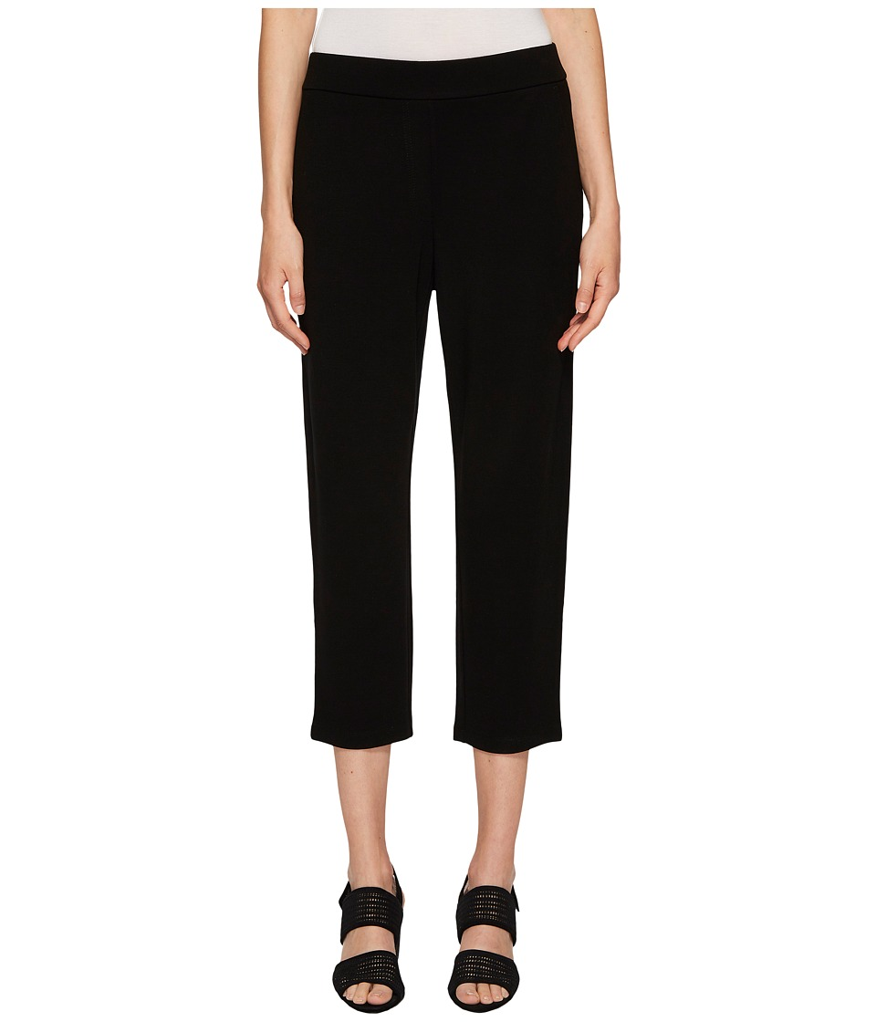 Eileen Fisher - Cropped Trousers (Black) Womens Casual Pants