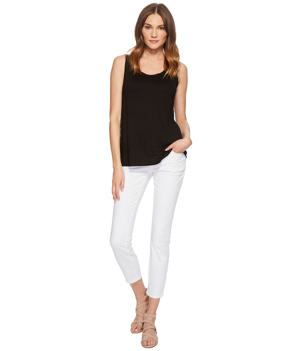 Eileen Fisher Slim Ankle Jeans in White Garment-Dyed Orga...