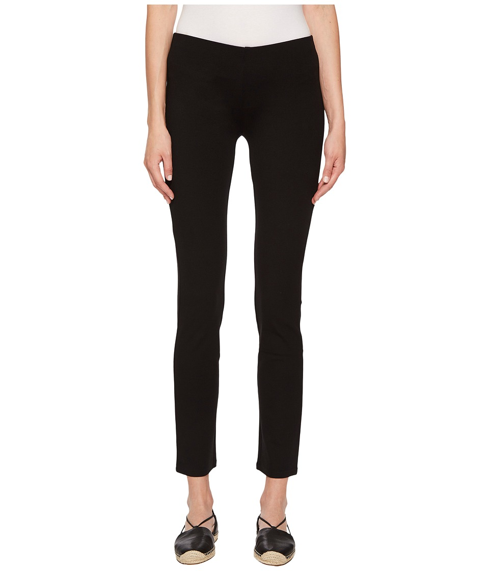 Eileen Fisher - System Stretch Ponte Slim Pant (Black Viscose Stretch Ponte) Womens Casual Pants