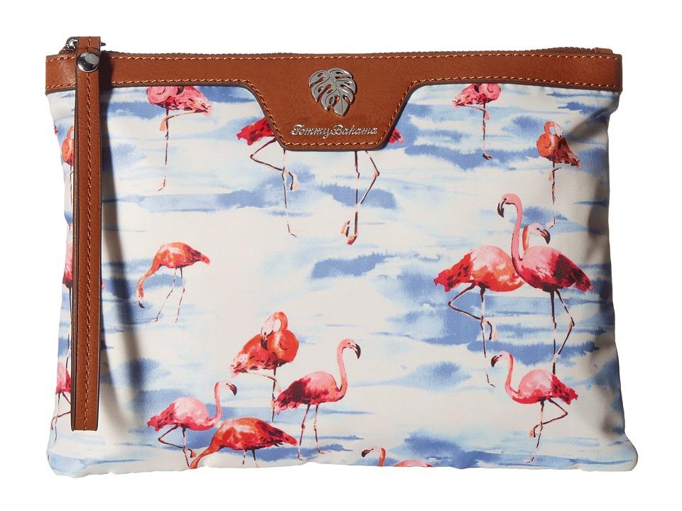 Tommy Bahama Siesta Key Wet Bikini Bag (Flamingo Squad) Handbags