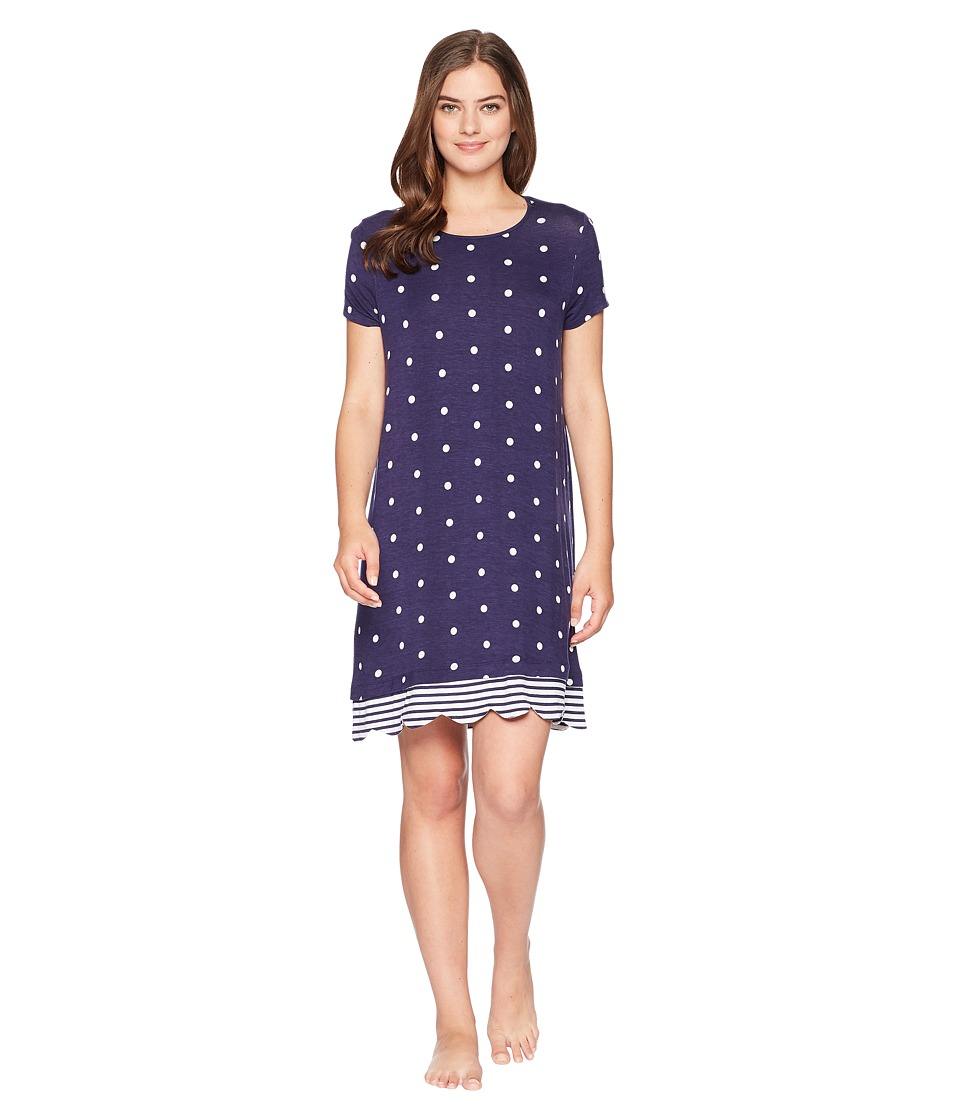 Jockey - Short Sleeve Sleepshirt (Dot & Stripe) Womens Pajama