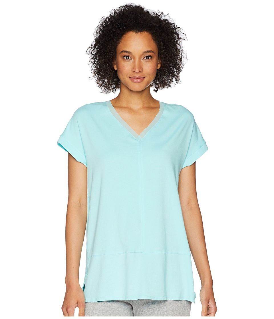 Jockey - Short Sleeve Top (Green) Womens Pajama