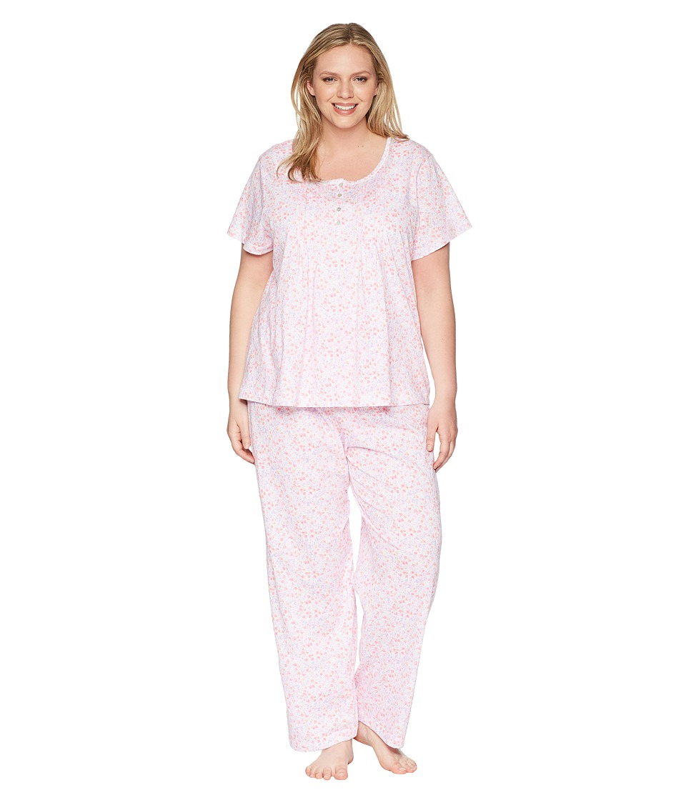 Carole Hochman - Plus Size Pajama Set (Watercolor Ditsy) Womens Pajama Sets