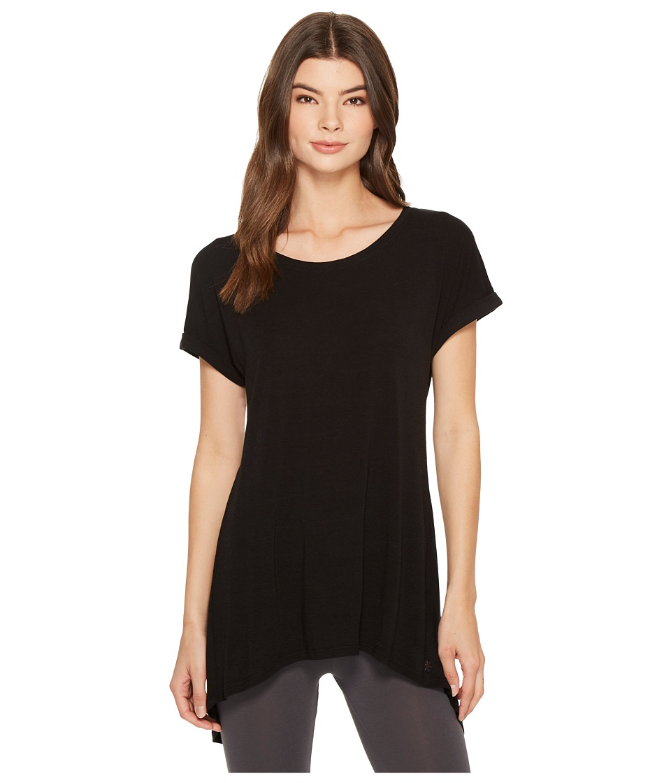 Splendid - Studio Split Back Tee (Black) Womens T Shirt