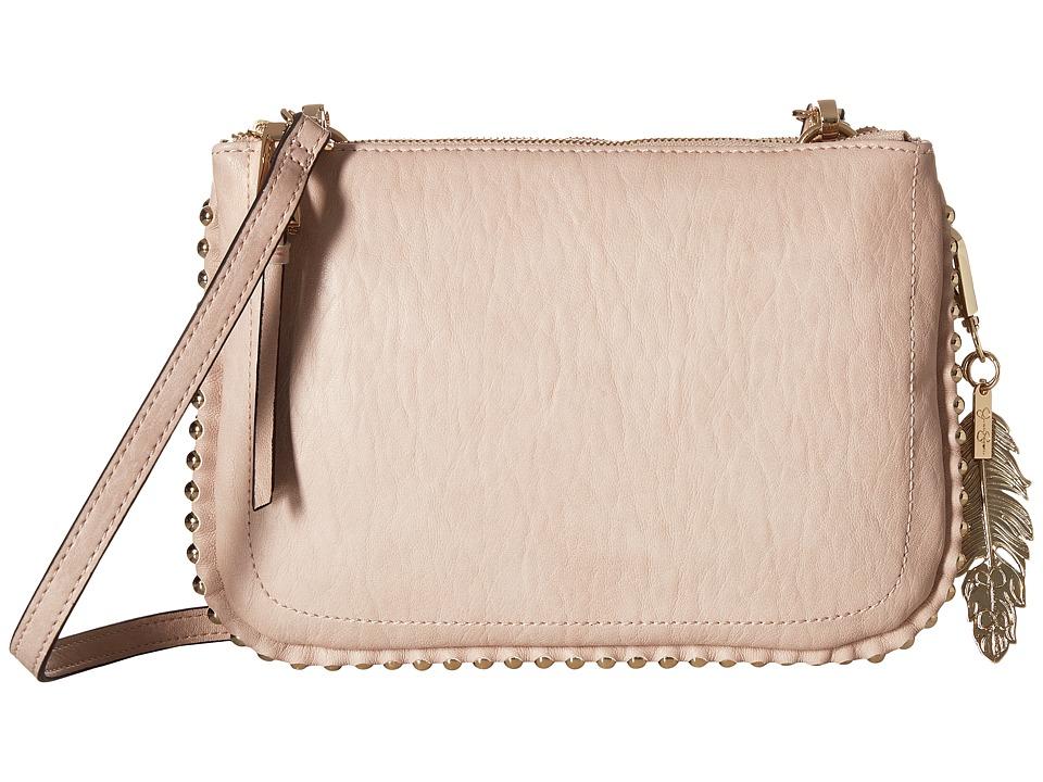 Jessica Simpson - Camile Double Top Zip Crossbody (Powder Blush) Cross Body Handbags
