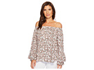 LAUREN Ralph Lauren LAUREN Ralph Lauren Ruffled-Cuff Floral Jersey Top