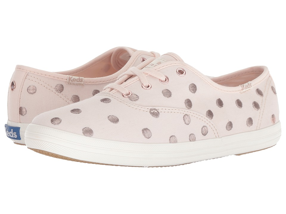 Keds x kate spade new york Champion Dancing Dot (Pale Pink) Women's Shoes