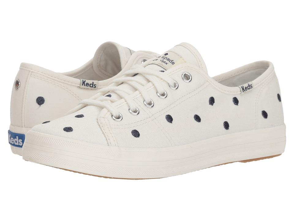 Keds x kate spade new york Kickstart Dancing Dot (Cream/Navy) Women's Shoes