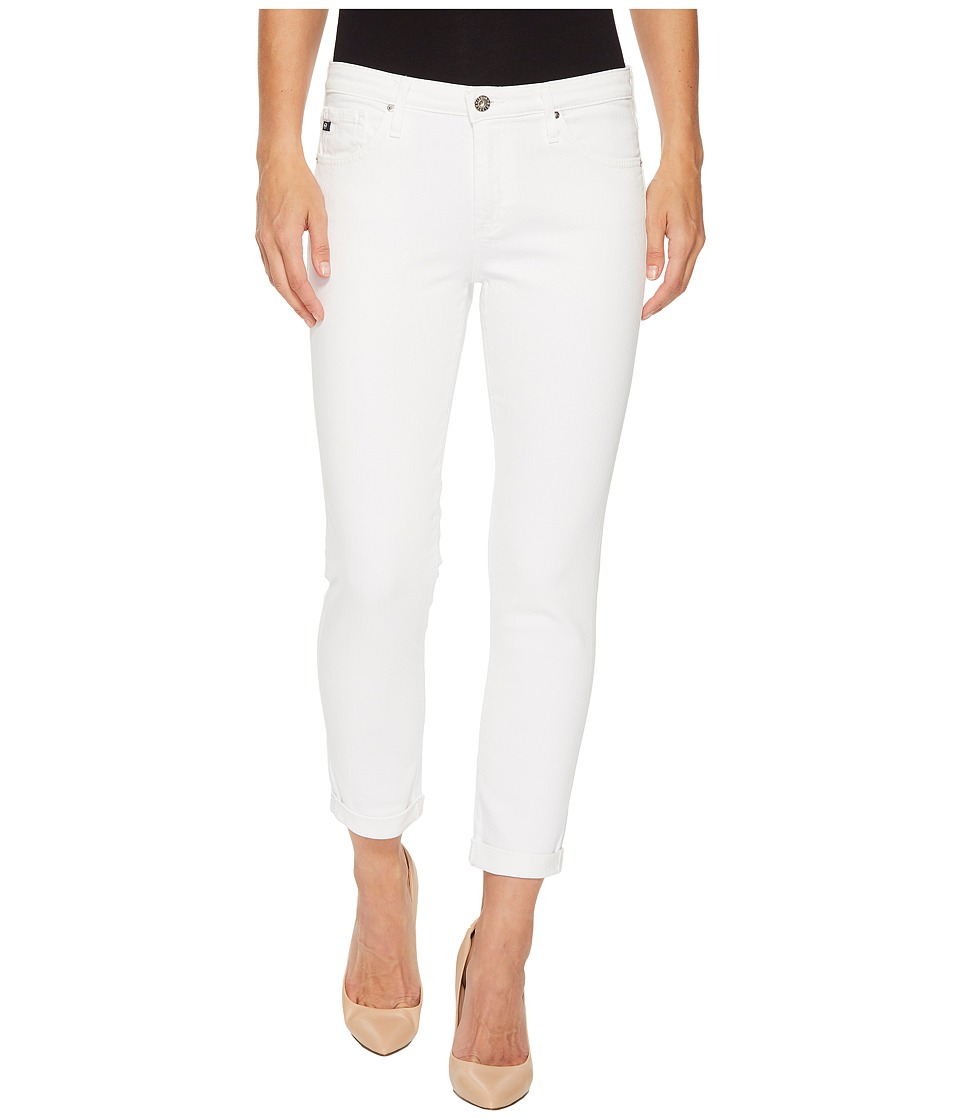 AG Adriano Goldschmied - Prima Roll Up in White (White) Womens Jeans