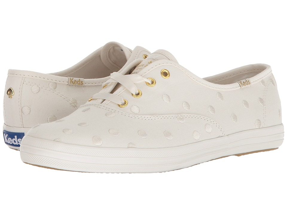 Keds x kate spade new york Champion Dancing Dot (Cream/Silver) Women's Shoes