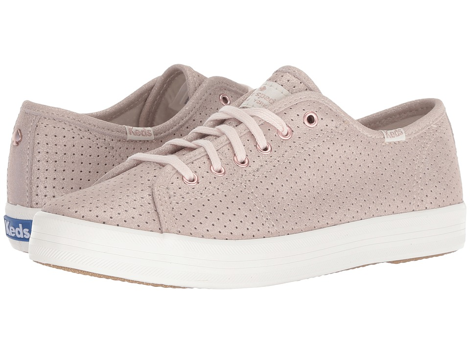 Keds x kate spade new york Kickstart Perforated Shimmer (Rose Gold) Women's Shoes