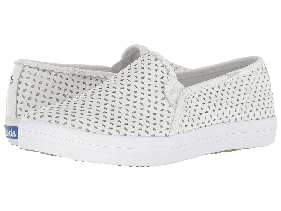 Keds x kate spade new york Double Decker Eyelet (White) Women's Shoes