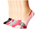 Betsey Johnson Betsey Johnson 5-Pack Footie with Embroidery