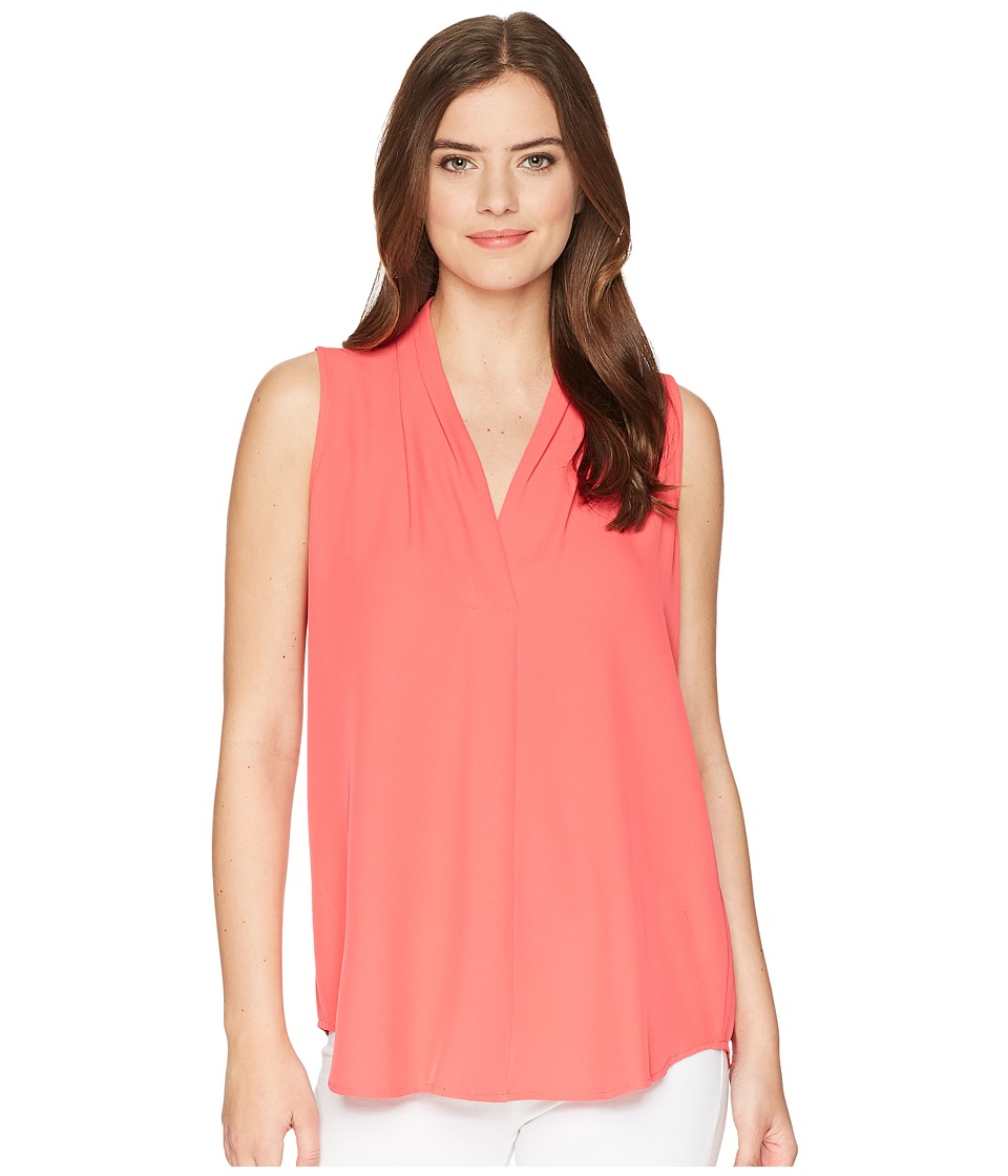 Calvin Klein - Blouse w/ Inverted Pleat (Watermelon) Womens Sleeveless
