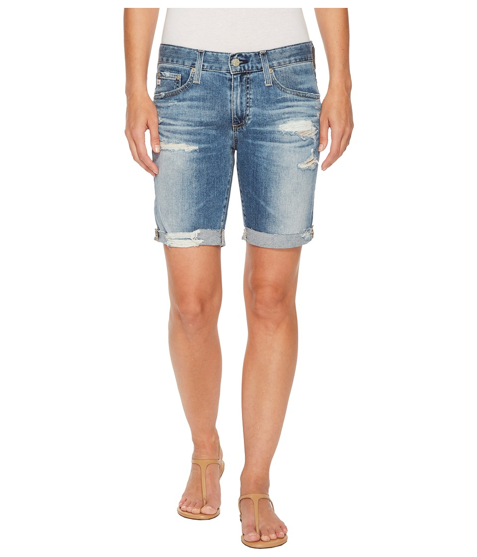 AG Adriano Goldschmied - Nikki Shorts in 16 Years Indigo Deluge Destructed (16 Years Indigo Deluge Destructed) Womens Shorts