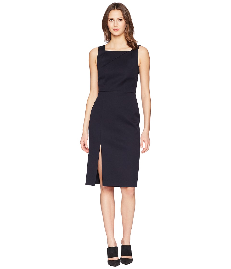 Adam Lippes - Double Cotton Fitted Overall Dress (Dark Navy) Womens Dress