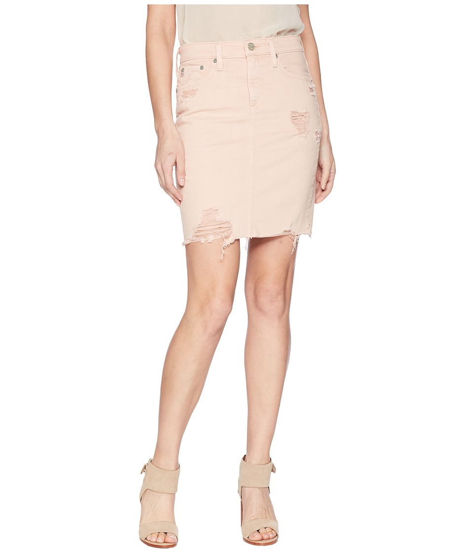 AG Adriano Goldschmied - Erin in 10 Years Weathered Rosy Rouge (10 Years Weathered Rosy Rouge) Womens Skirt