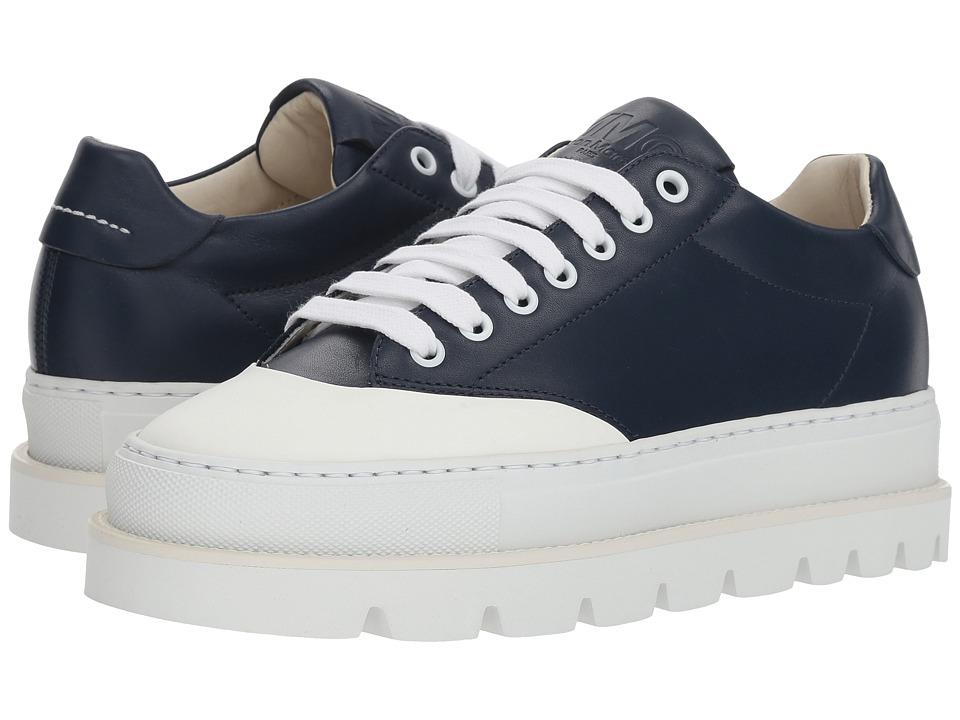 MM6 Maison Margiela Cap Toe Platform Sneaker (Navy/White) Women's Shoes