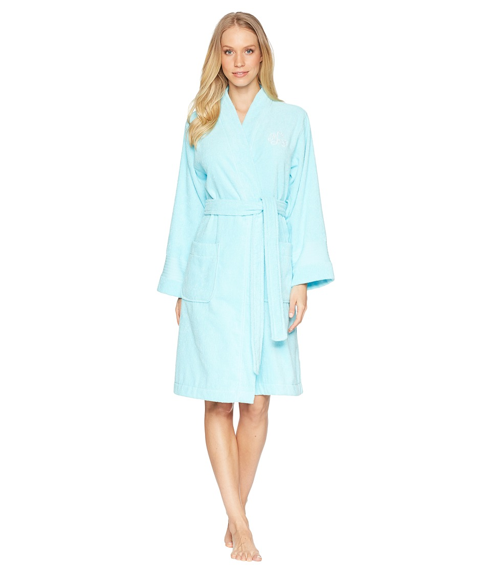 LAUREN Ralph Lauren - Greenwich Woven Terry Robe (Turquoise) Womens Robe