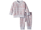 Stella McCartney Kids Betty + Tootie All Over Hearts Fleece Set (Infant)