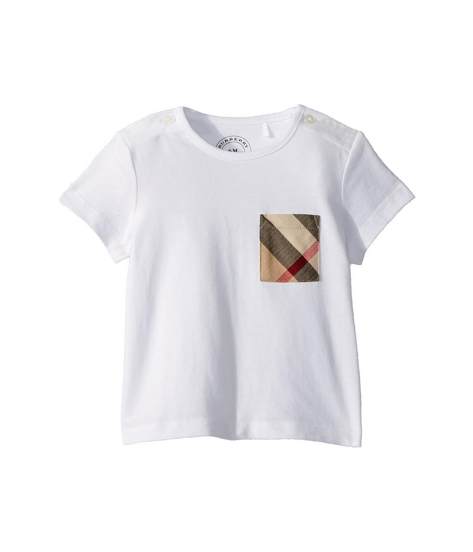Burberry Kids - Pocket Check Tee (Infant/Toddler) (White) Boys Clothing