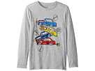 Stella McCartney Kids Barley Cars Stacked Long Sleeve Tee (Toddler/Little Kids/Big Kids)