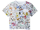 Stella McCartney Kids Basil All Over Printed Short Sleeve Tee (Toddler/Little Kids/Big Kids)