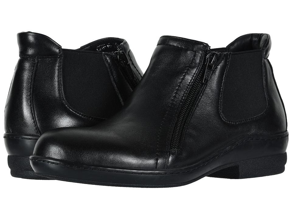 David Tate Bristol (Black Lamb Skin) Women's Dress Pull-on Boots