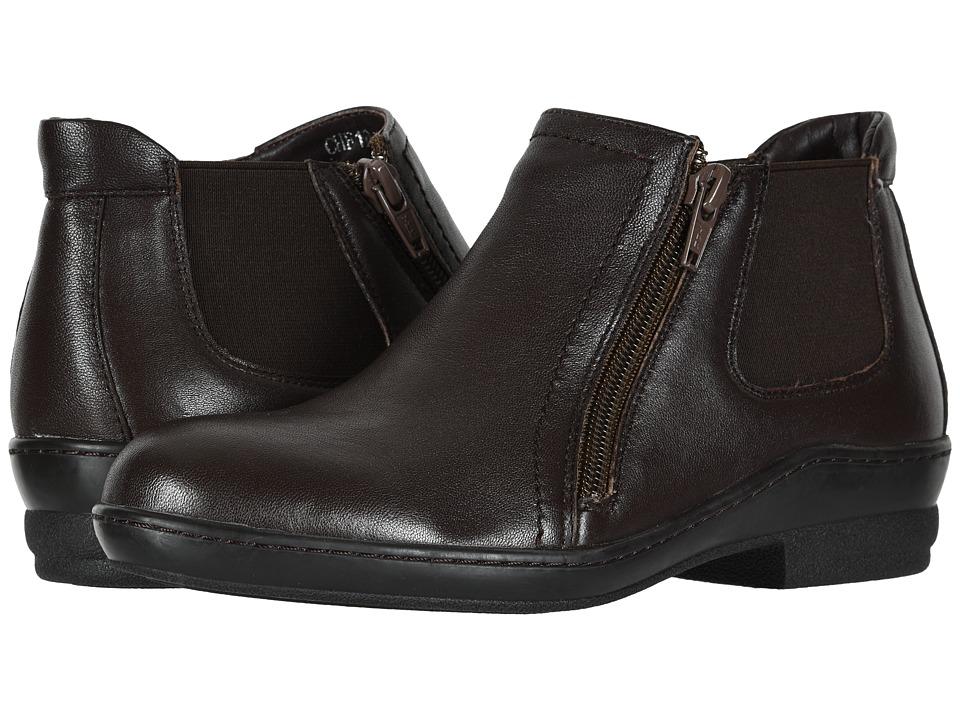 David Tate Bristol (Brown Lamb Skin) Women's Dress Pull-on Boots