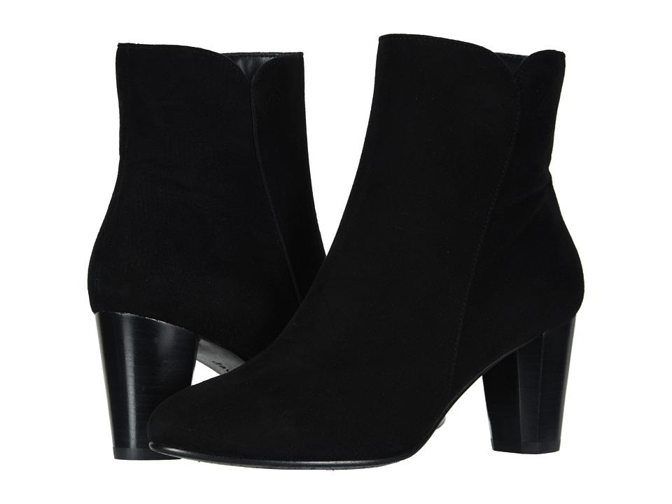 David Tate Alexa (Black Suede) Women's Dress Pull-on Boots