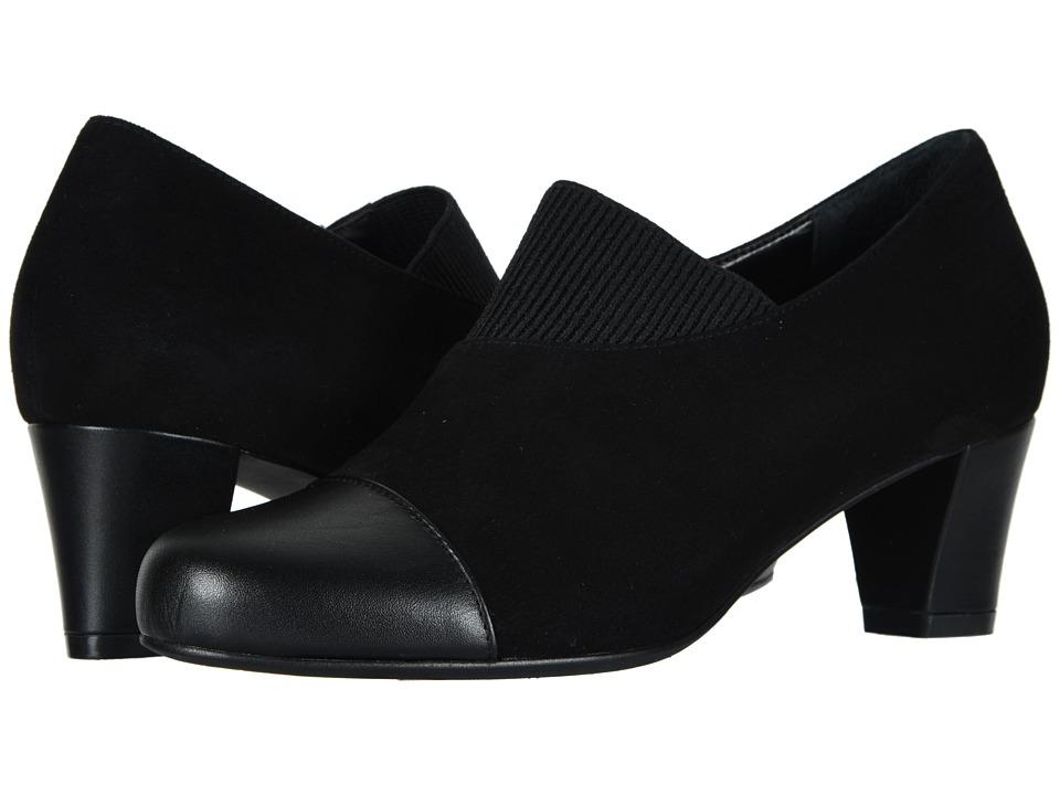 David Tate Hope (Black Calf/Kid Suede) Women's Dress Pull-on Boots