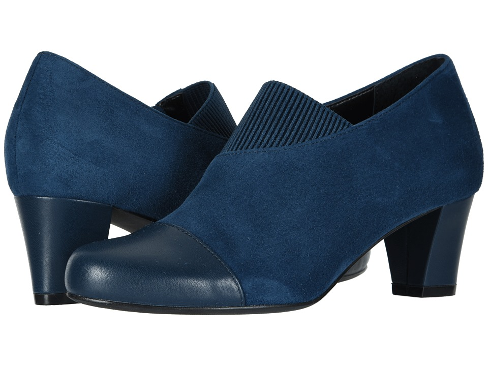 David Tate Hope (Navy Calf/Kid Suede) Women's Dress Pull-on Boots