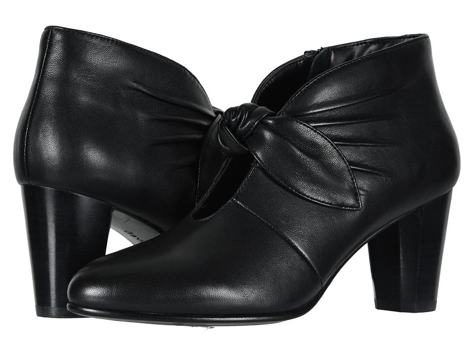 David Tate Gwen (Black Lamb) Women's Dress Pull-on Boots