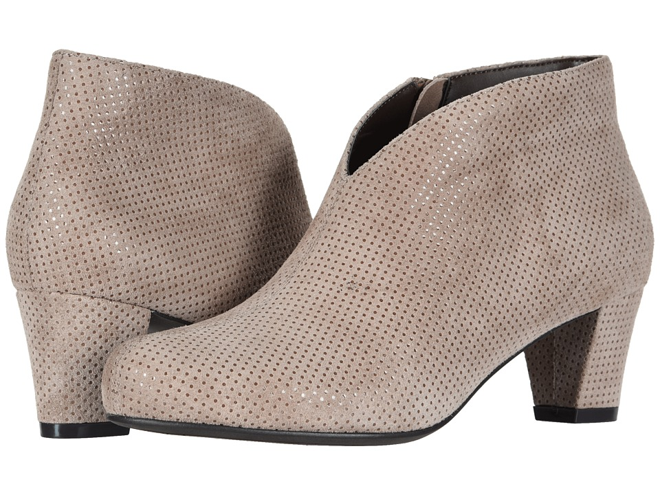 David Tate Fame (Taupe Suede Dots) Women's Dress Pull-on Boots