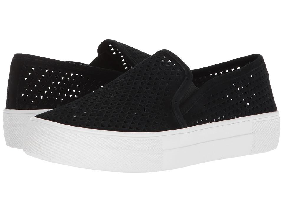 Steve Madden Gills-P Sneaker (Black Suede) Slip-On Shoes