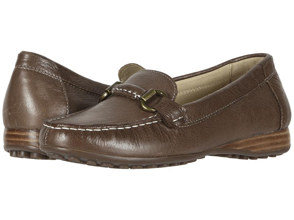 David Tate Sable (Brown Tumbled Calf) Slip-On Shoes