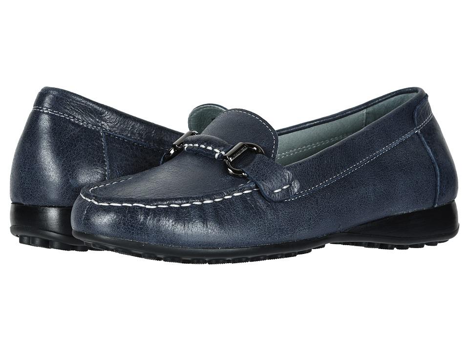 David Tate Sable (Navy Tumbled Calf) Slip-On Shoes