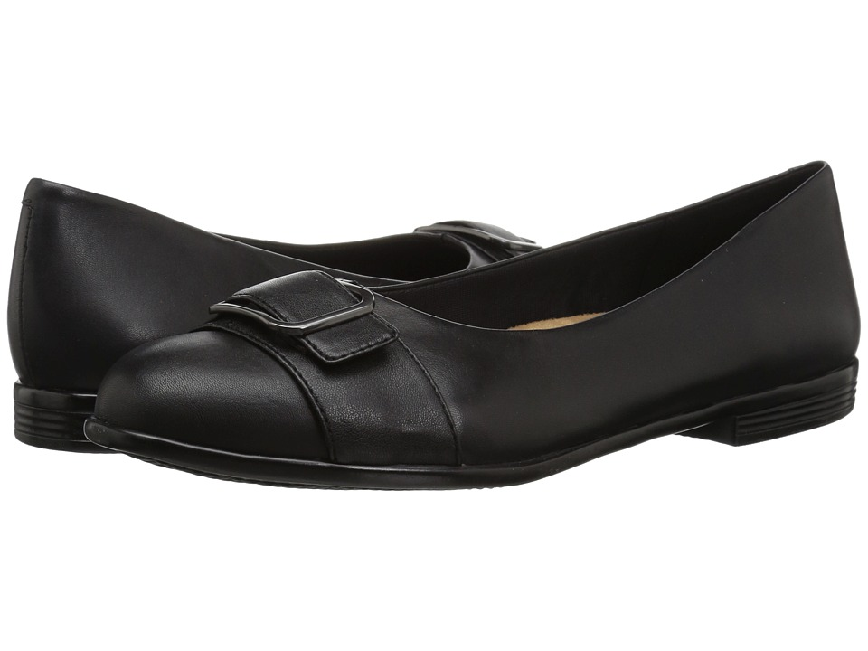 Trotters Aubrey (Black Soft Nappa Leather) Women's Slip-on Dress Shoes