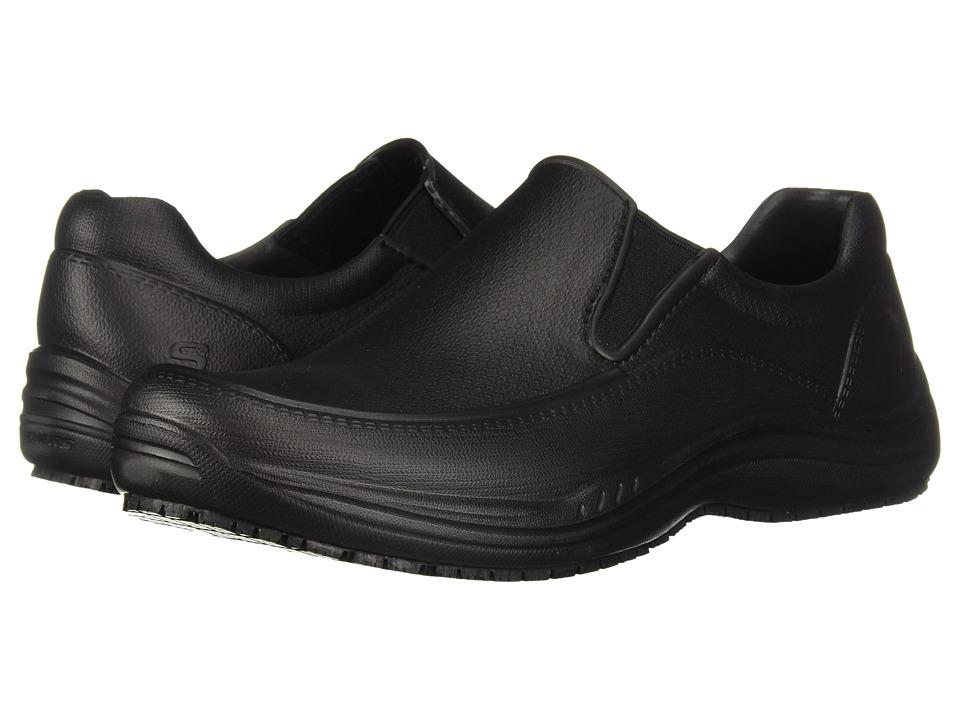 SKECHERS Work - Brushten SR (Black) Mens Slip on  Shoes