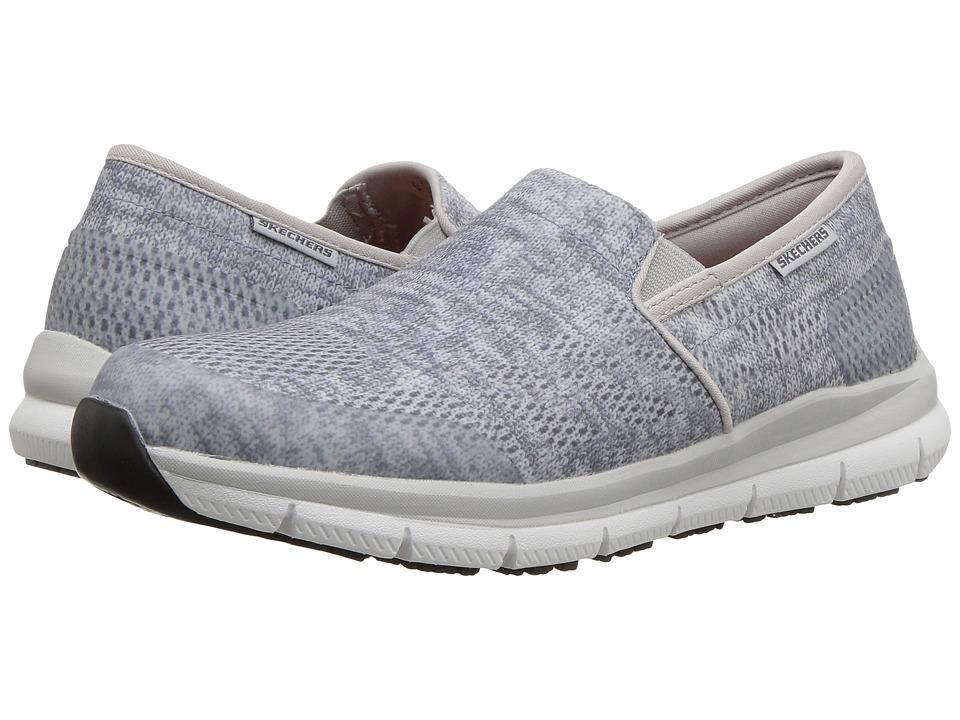 SKECHERS Work - Comfort Flex SR HC Pro SR II (Gray/White) Womens Slip on  Shoes